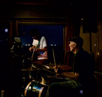 photo of Yuji Tojo and Drummer James Norris Live at Crows nest